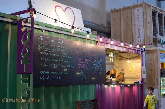 Puesto de Street Food en el Papirøen, Copenhague