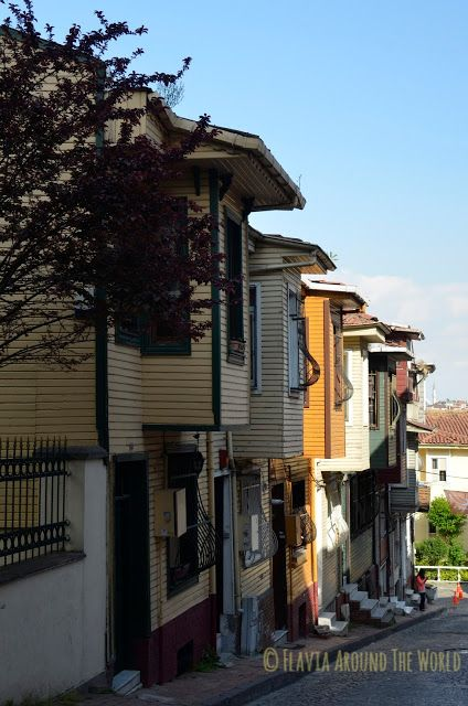 Casas otomanas cerca de la iglesia de Chora