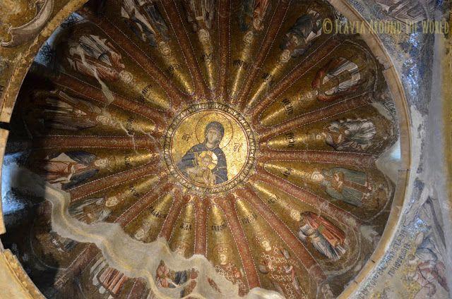 Mosaicos del techo de la iglesia de San Salvador de Cora