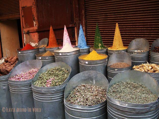 Especias de la mellah en Marrakech