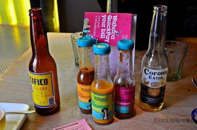 Salsas y cervezas mejicanas