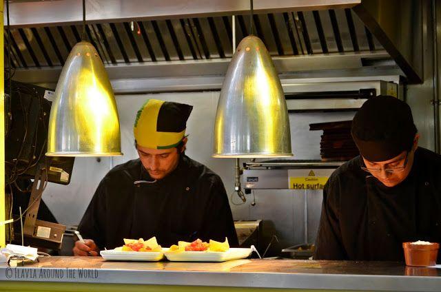 Cocineros del Wahaca en Londres