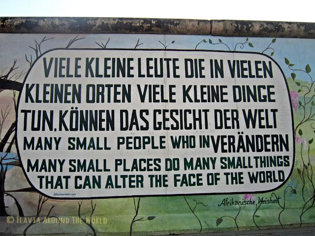 Proverbio africano en la East Side Gallery