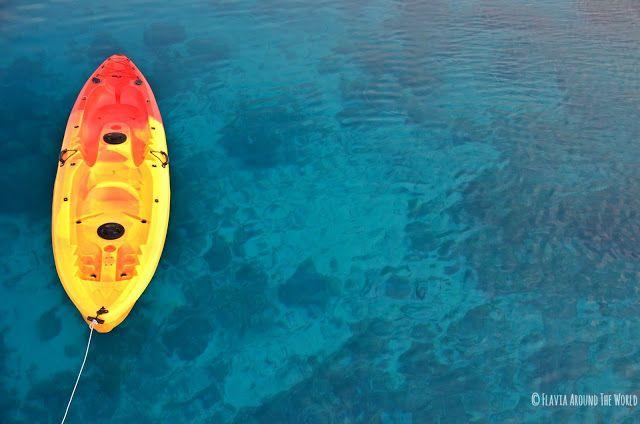 Kayak solitario en Komodo