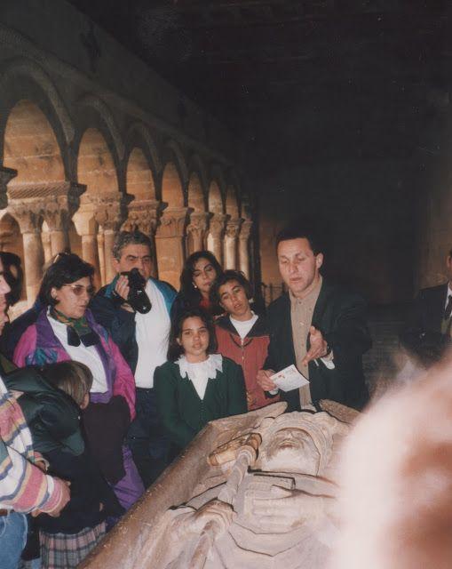 En el claustro de Santo Domingo de Silos