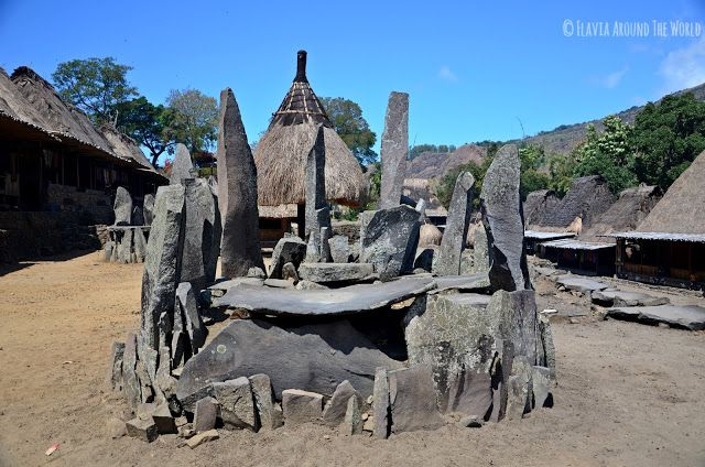Lugar donde se sacrifican a los animales, Bena, Flores, Indonesia