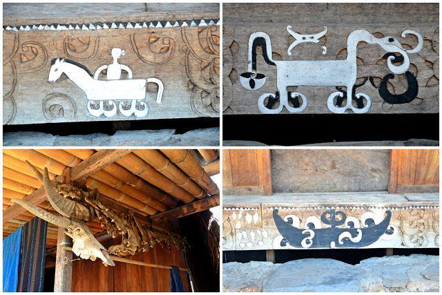 Detalles de las maderas de alguna casa de Bena, Flores, Indonesia