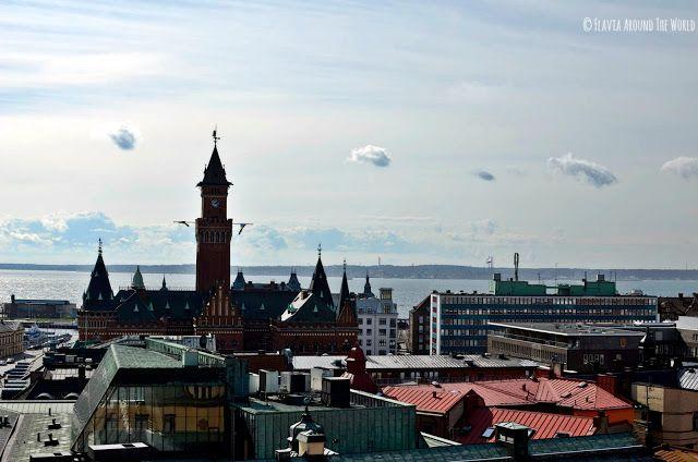 Vistas desde lo alto de la torre de Helsingborg