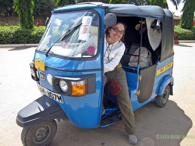 El tuk-tuk que nos trajo a las 3 desde Malindi