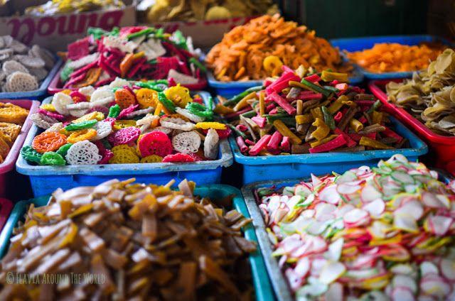 Puesto del mercado de Ruteng, Indonesia