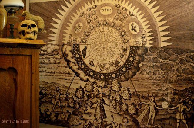 Sala de alquimia en el laberinto subterráneo de Brno