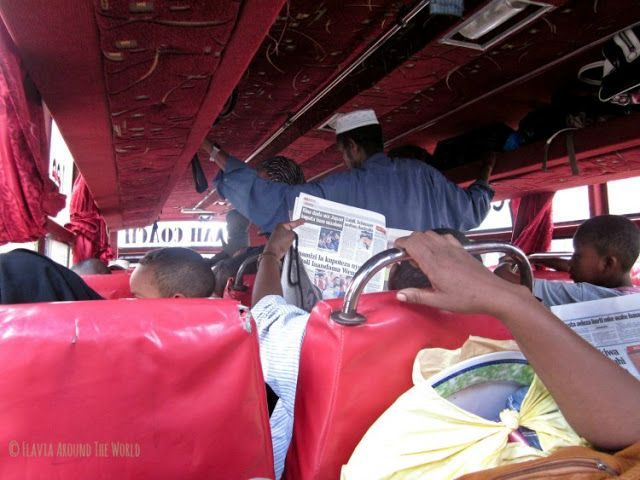 Interior autobús a Lamu Kenia