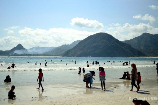 Playa Selong Belanak en Lombok, Indonesia