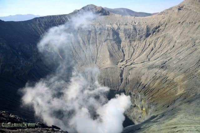cráter volcán bromo