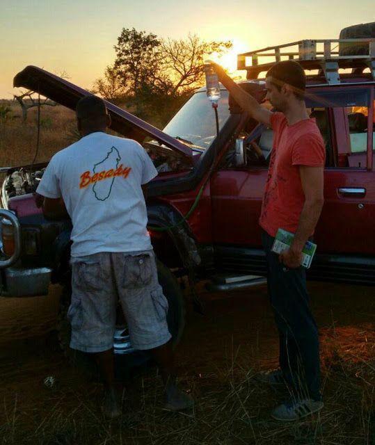 todoterreno con gotero en Madagascar
