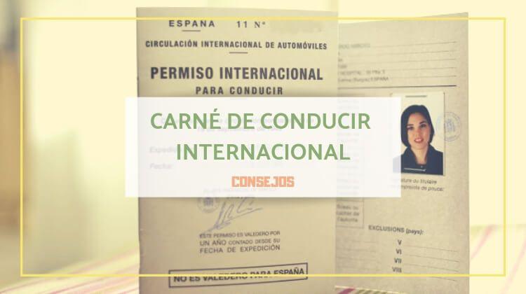 Obtener el carné de conducir internacional (España)