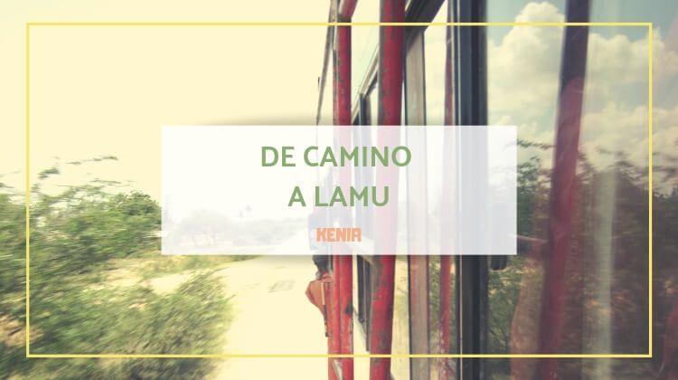 De camino a Lamu