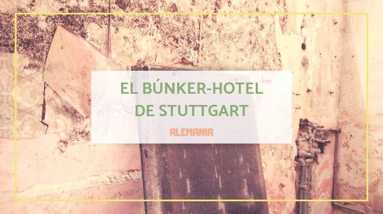 El búnker que se convirtió en hotel y en peluquería de caballeros en Stuttgart